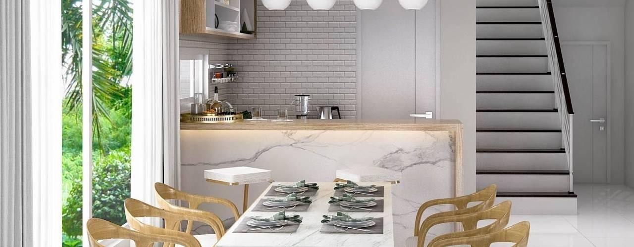 Modern Zen - Habitia Bond ราชพฤกษ์:   by BAANSOOK Design & Living Co., Ltd.