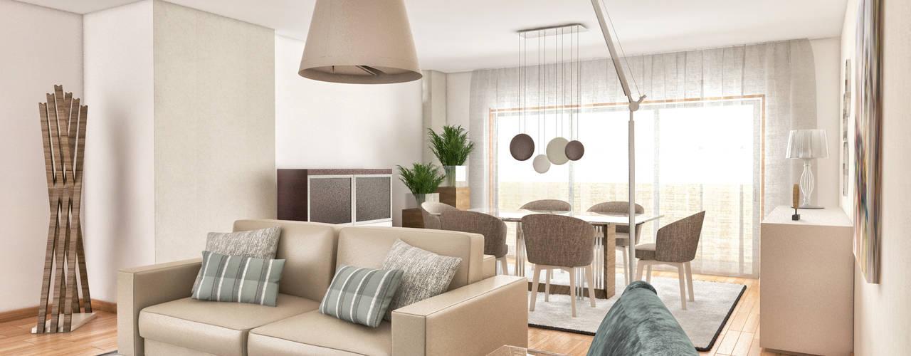 PROJETOS: 3D: Salas de estar  por MY STUDIO HOME - Design de Interiores