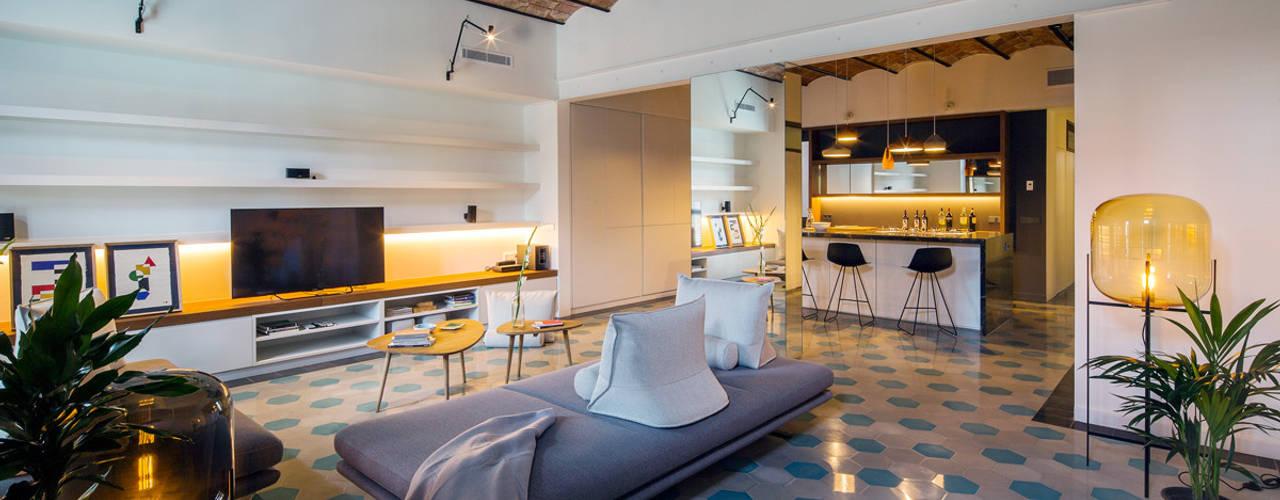 nghệ nhân & không gian kiến trúc Phòng khách phong cách mộc mạc bởi Nghệ nhân Kiến trúc thủ công Mộc mạc