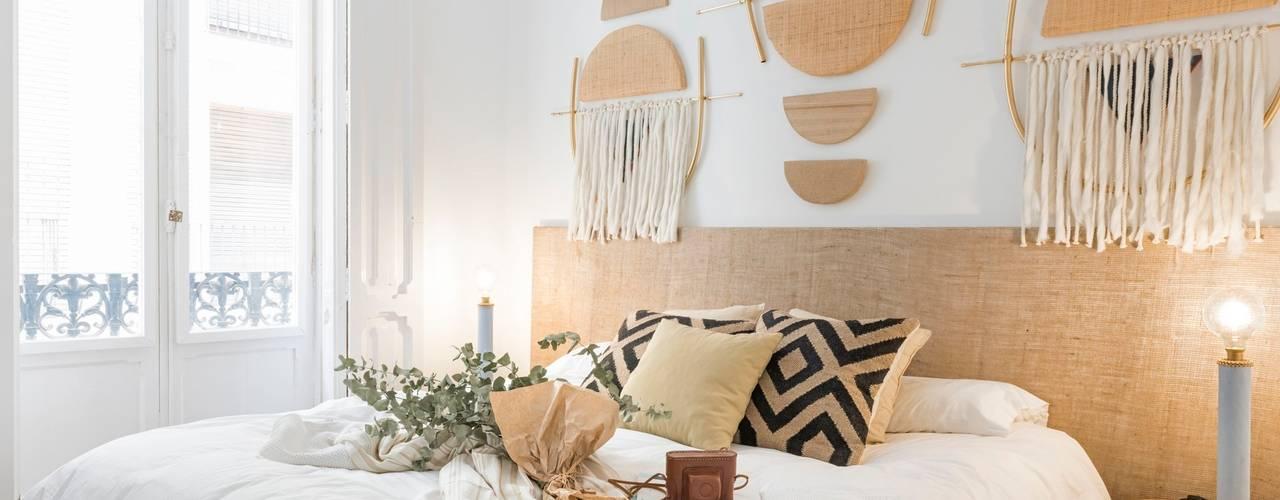 nghệ nhân & không gian kiến trúc Phòng ngủ phong cách mộc mạc bởi Nghệ nhân Kiến trúc thủ công Mộc mạc