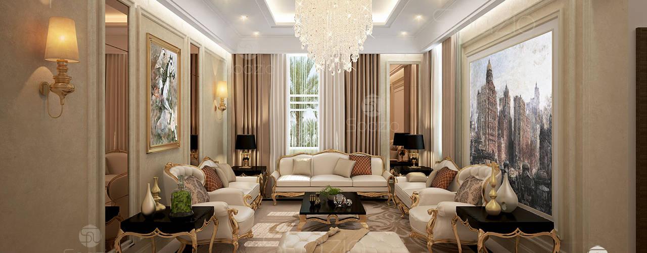 غرفة المعيشة تنفيذ Spazio Interior Decoration LLC