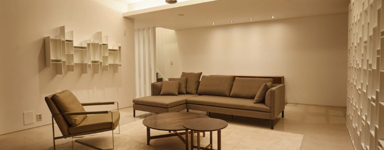 가구와 공간을 같이 계획한 인테리어 모던스타일 거실 by 건축일상 모던