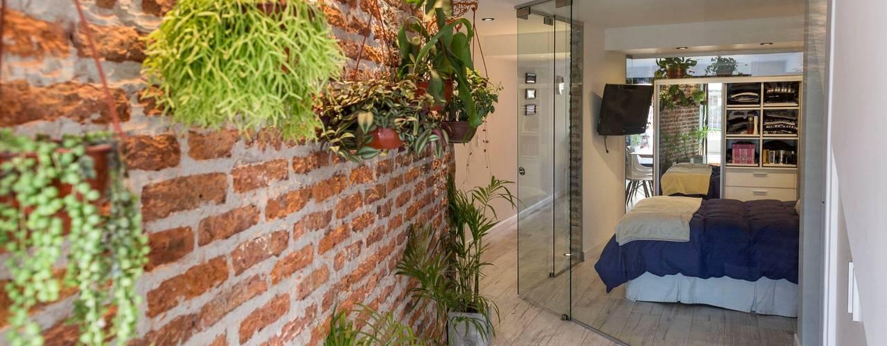 الممر الحديث، المدخل و الدرج من estudio M حداثي