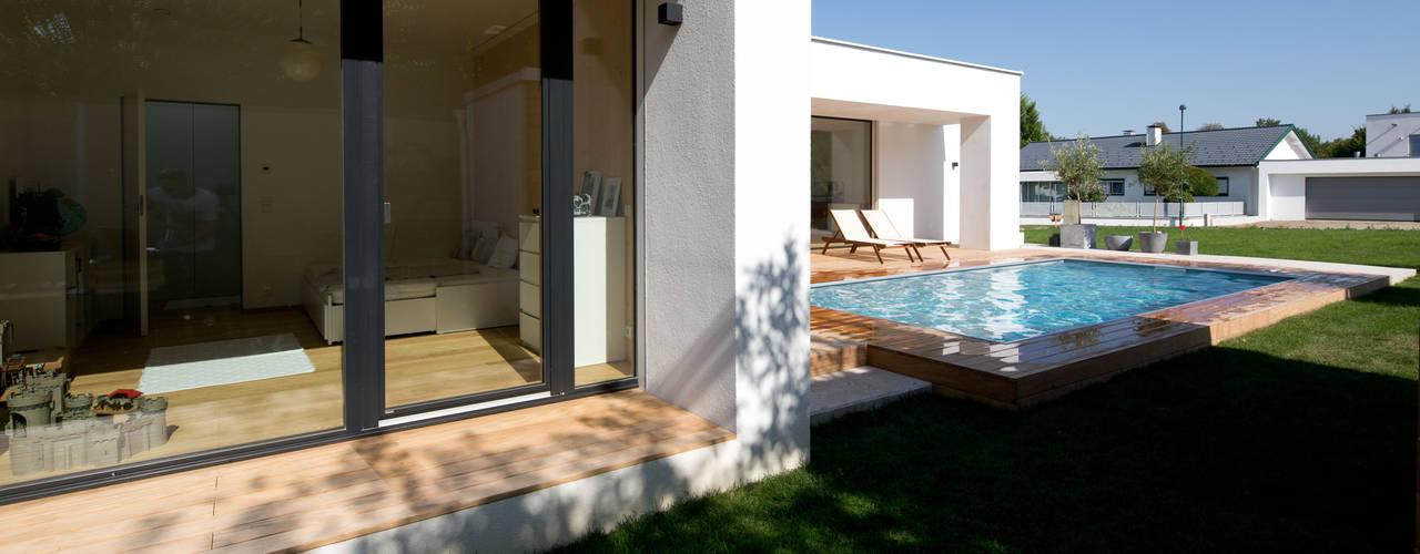 Casas de estilo moderno por PASCHINGER ARCHITEKTEN ZT KG