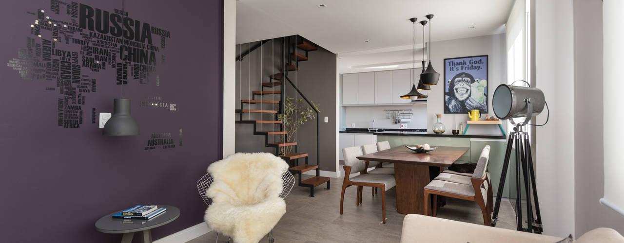 Tudo Novo | Reforma de Apartamento Salas de estar modernas por Rabisco Arquitetura Moderno