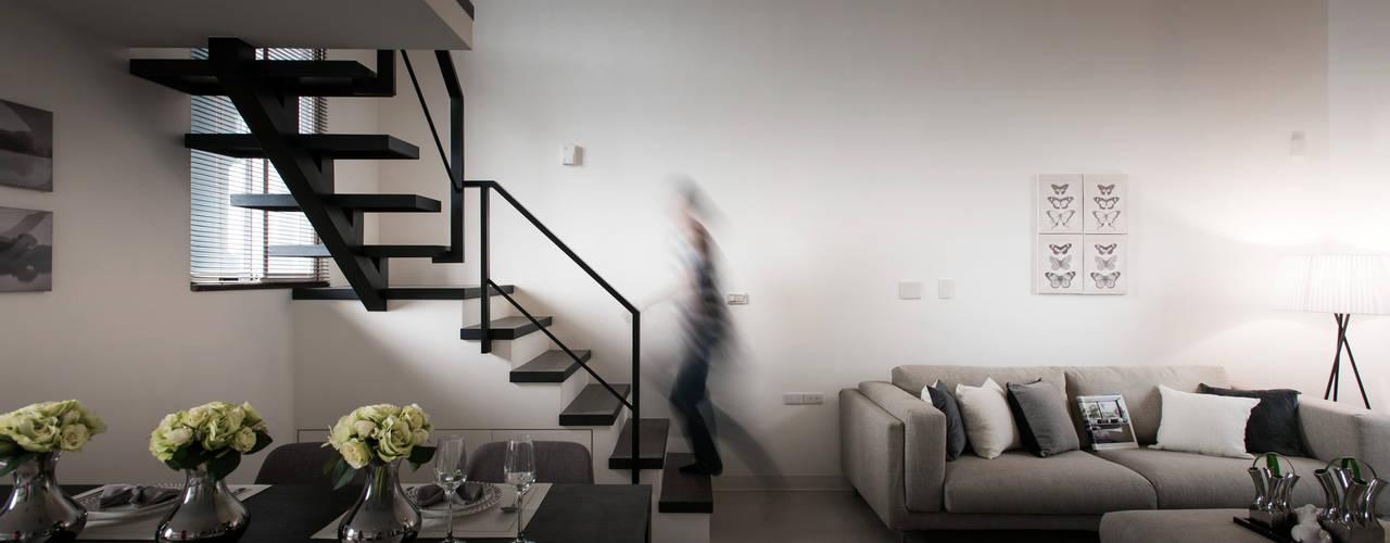 馭之境‧貳次主軸(住宅設計案 2016):  樓梯 by 北歐制作室內設計