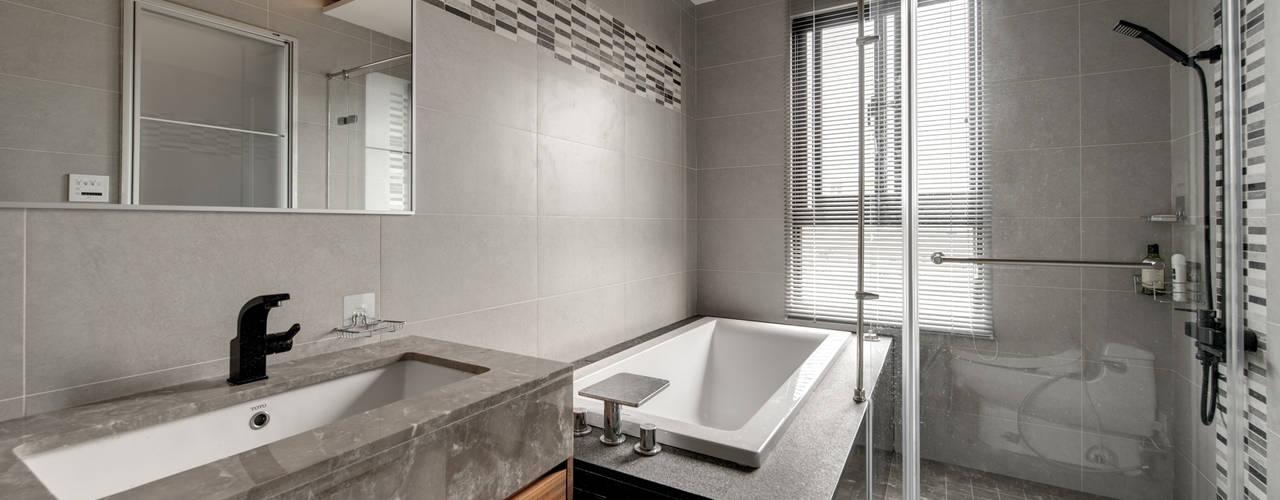 宜蘭市筊白一路別墅案 Hi+Design/Interior.Architecture. 寰邑空間設計 現代浴室設計點子、靈感&圖片