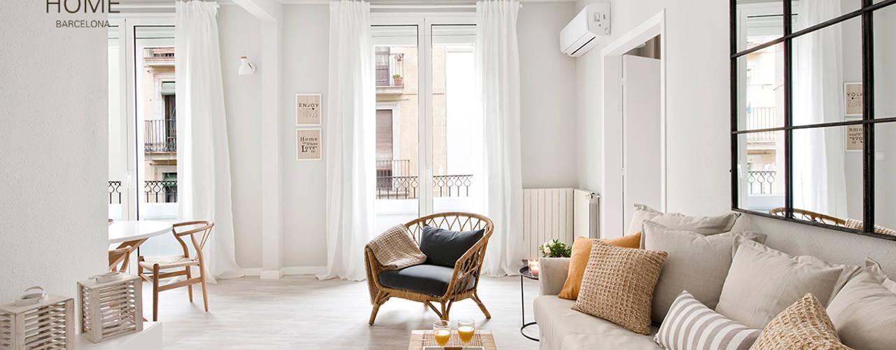 غرفة المعيشة تنفيذ Nice home barcelona