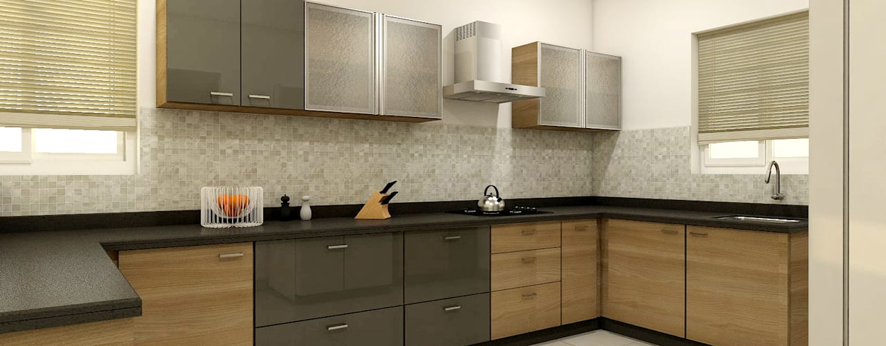 PROJECT @ KUKATPALLY:  Kitchen units by shree lalitha consultants