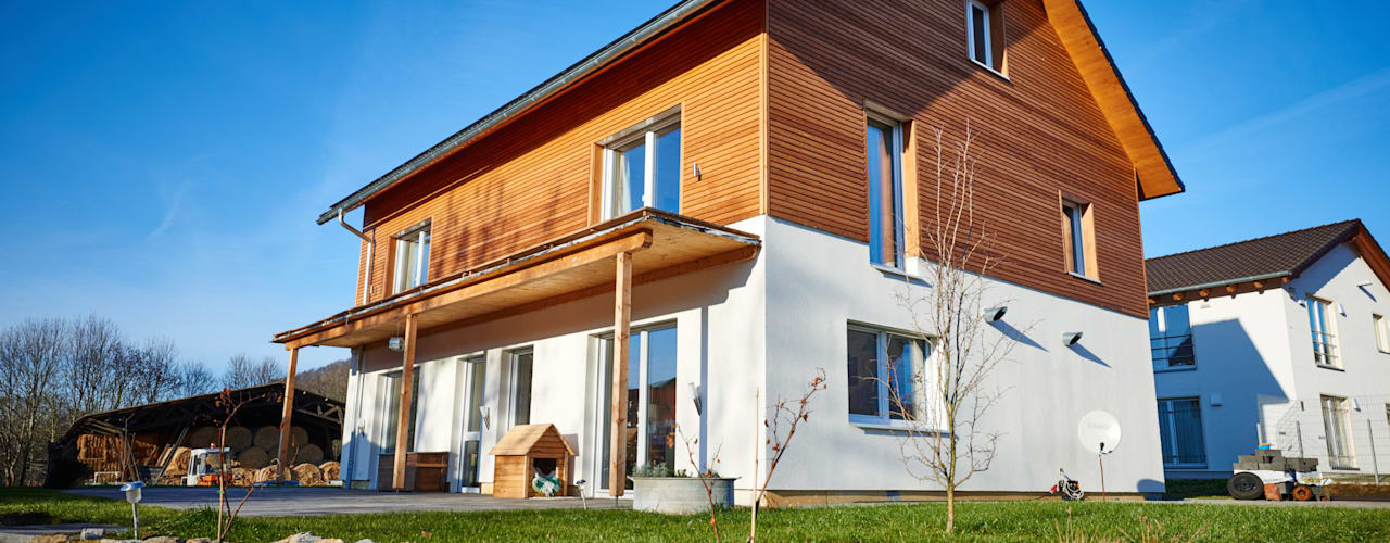Projekty, nowoczesne Domy zaprojektowane przez PassivHausPartschefeld