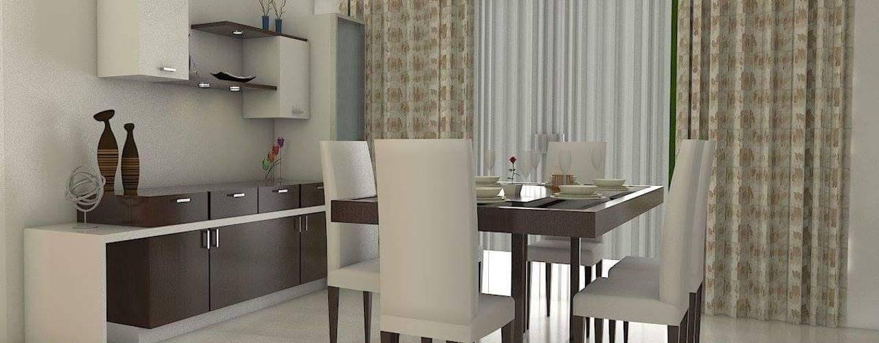 Design ideas for My Home Vihanga:  Dining room by URBAN HOSPEX INTERIORS