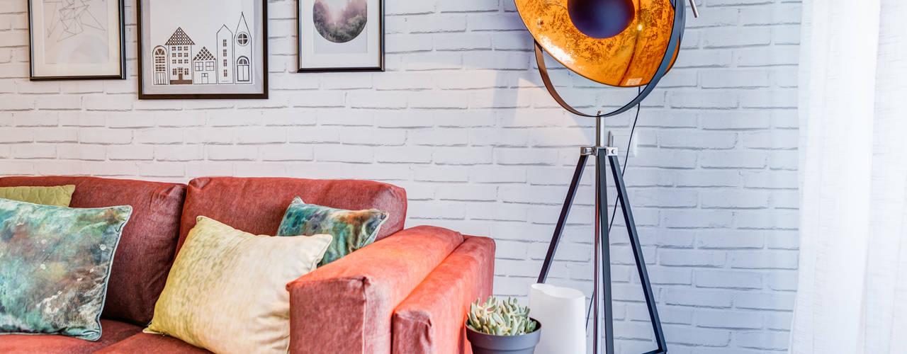 Querido Mudei a Casa - Ep 2607 Santiago | Interior Design Studio Salas de estar industriais