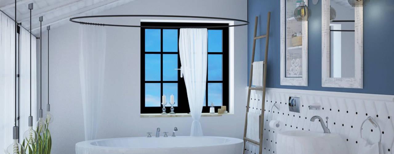 Phòng tắm bởi Tamriko Interior Design Studio Công nghiệp