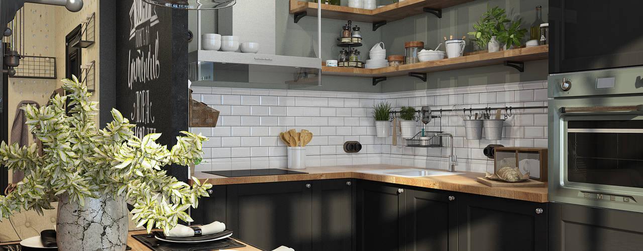 Cocinas de estilo industrial por Alyona Musina