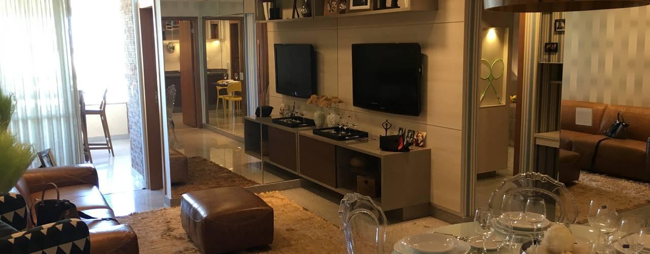 Apartamento: Salas de estar  por Costa Lima Arquitetura Design e Construções Ltda