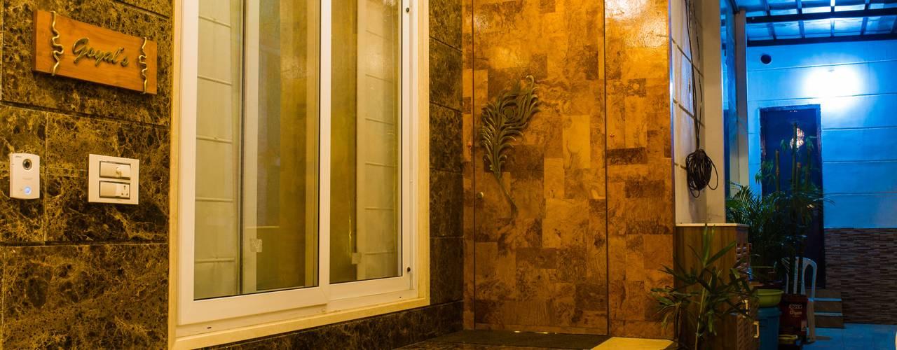 Goel's, Aanandam World City, Raipur Modern style doors by ESHA GARG : Interior Designer Modern