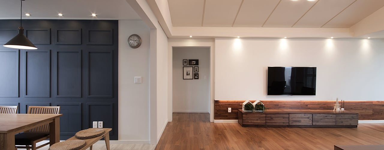 전주인테리어 서신동 대림 이편한세상 아파트 인테리어 클래식스타일 거실 by 디자인투플라이 클래식