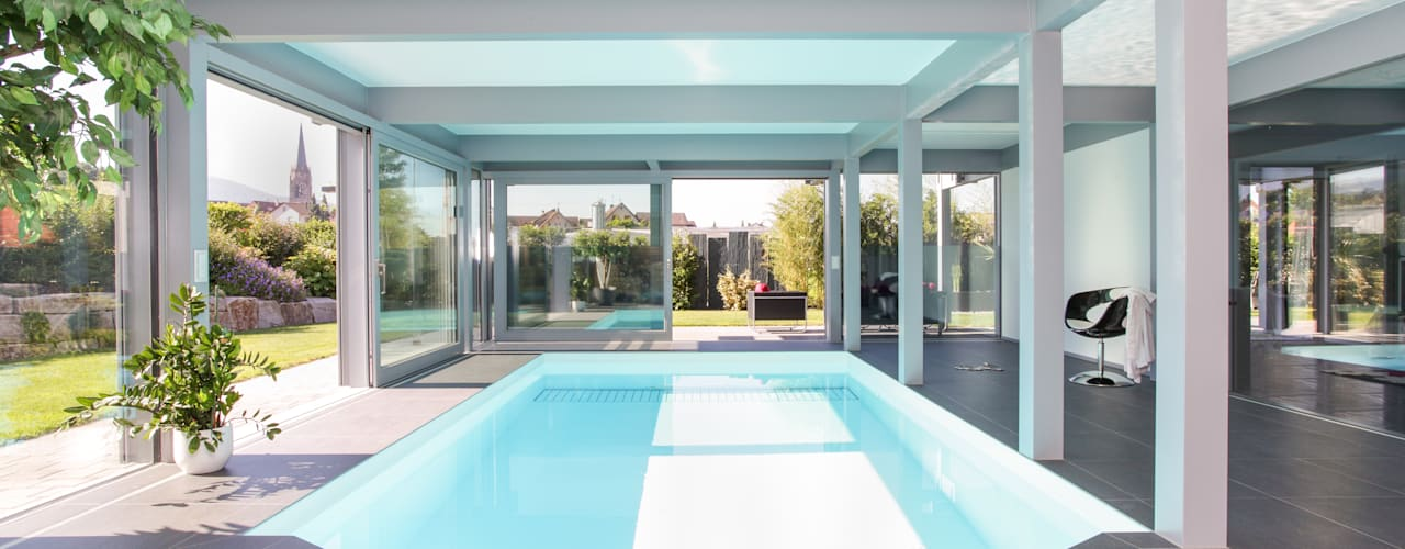 Projekty,  Basen zaprojektowane przez DAVINCI HAUS GmbH & Co. KG