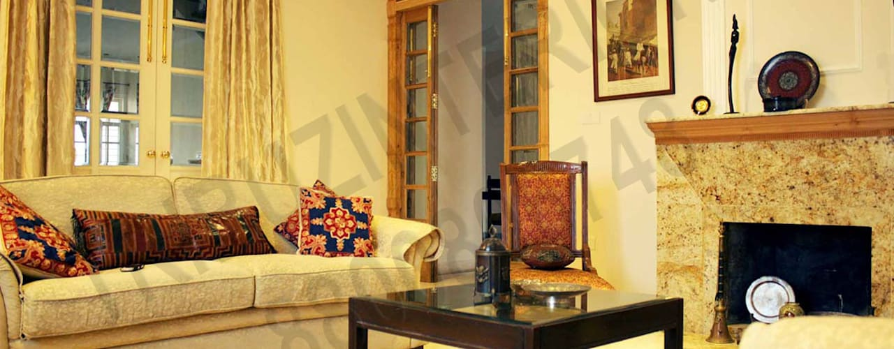 Heritage City 2: modern Living room by Tribuz Interiors Pvt. Ltd.