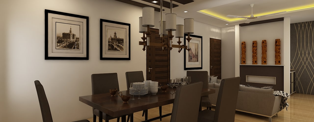 Dining Room:  Dining room by Regalias India Interiors & Infrastructure