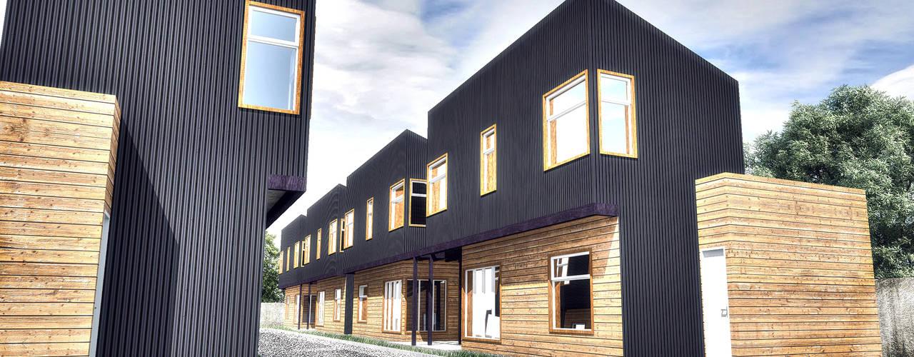 Diseño de Condominio Don Rene en Osorno, Región de los Lagos por NidoSur Arquitectos de NidoSur Arquitectos - Valdivia Moderno
