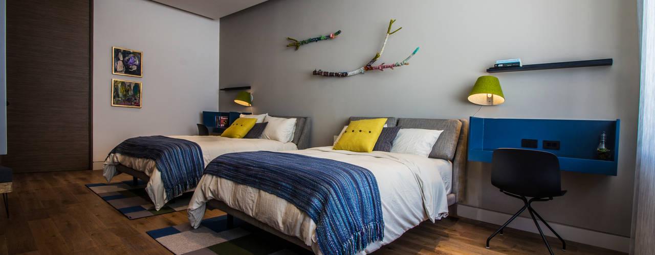 Casa del Tec, Residencia Ithualli Dormitorios infantiles modernos de IAARQ (Ibarra Aragón Arquitectura SC) Moderno