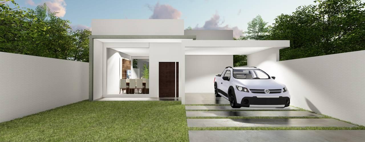 Projekty,  Dom jednorodzinny zaprojektowane przez Rudini Rodarte Arquitetura e Construção