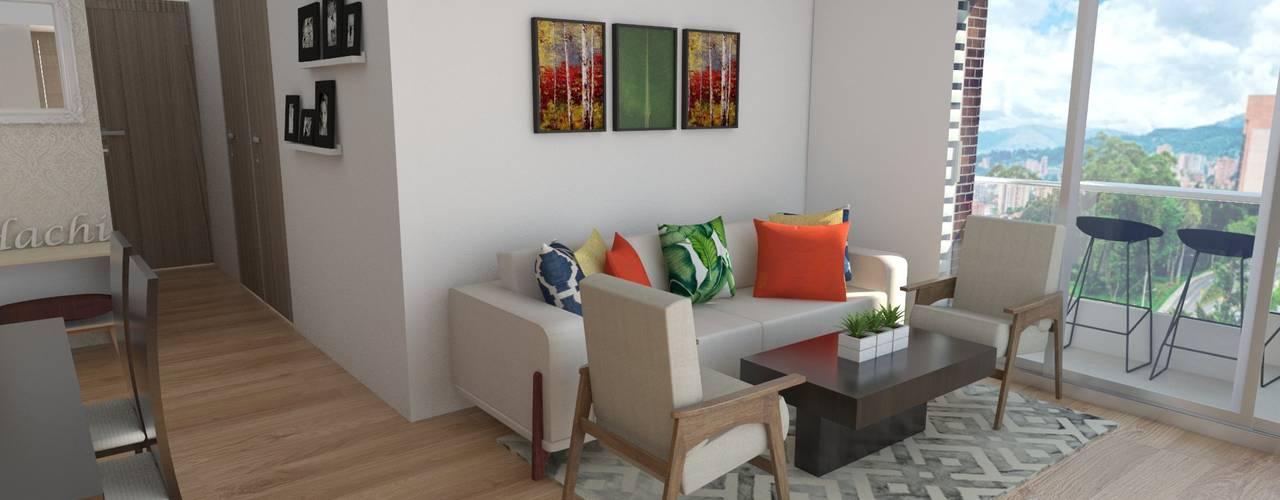 Naromi Design Living room Wood White