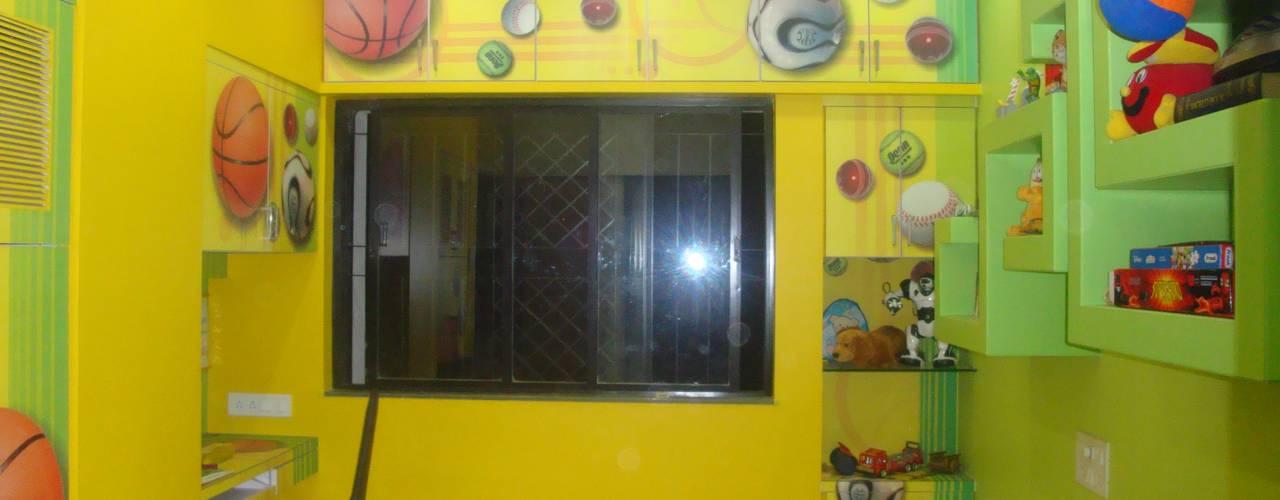 Residence - Rakesh Raskar, Pune.:  Bedroom by Spaceefixs