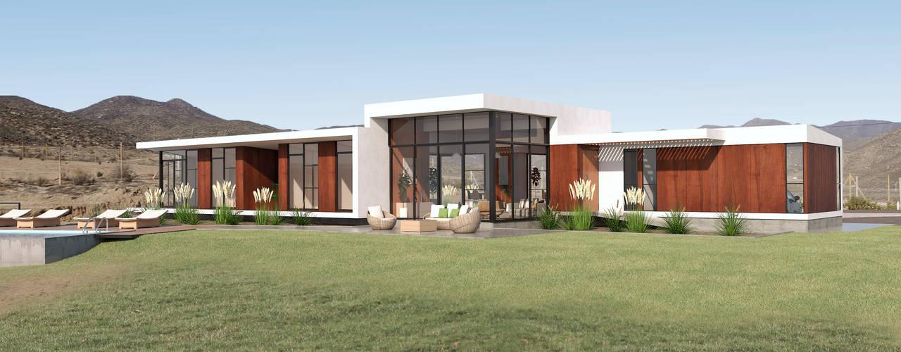 Vivienda Las Animas: Casas unifamiliares de estilo  por Uno Arquitectura