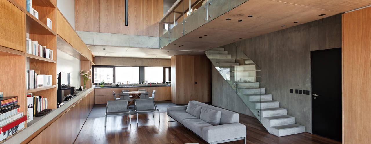 SENS Ravignani / Ravignani 2015-21 Livings modernos: Ideas, imágenes y decoración de ATV Arquitectos Moderno