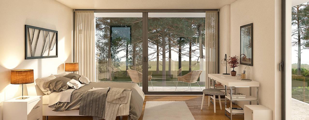 Dormitorios de estilo moderno de Traçado Regulador. Lda Moderno