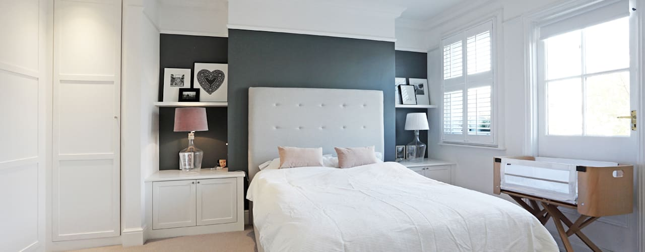 Edwardian meets contemporary; Teddington Family Home Modern style bedroom by PAD ARCHITECTS Modern