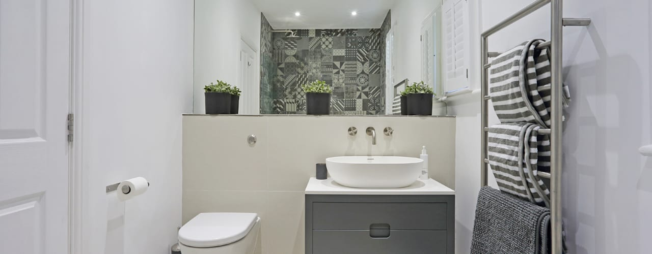 Edwardian meets contemporary; Teddington Family Home PAD ARCHITECTS Modern bathroom