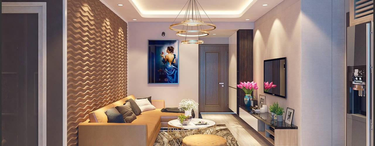 CHUNG CƯ Z133:  Phòng khách by ITALIC DECOR
