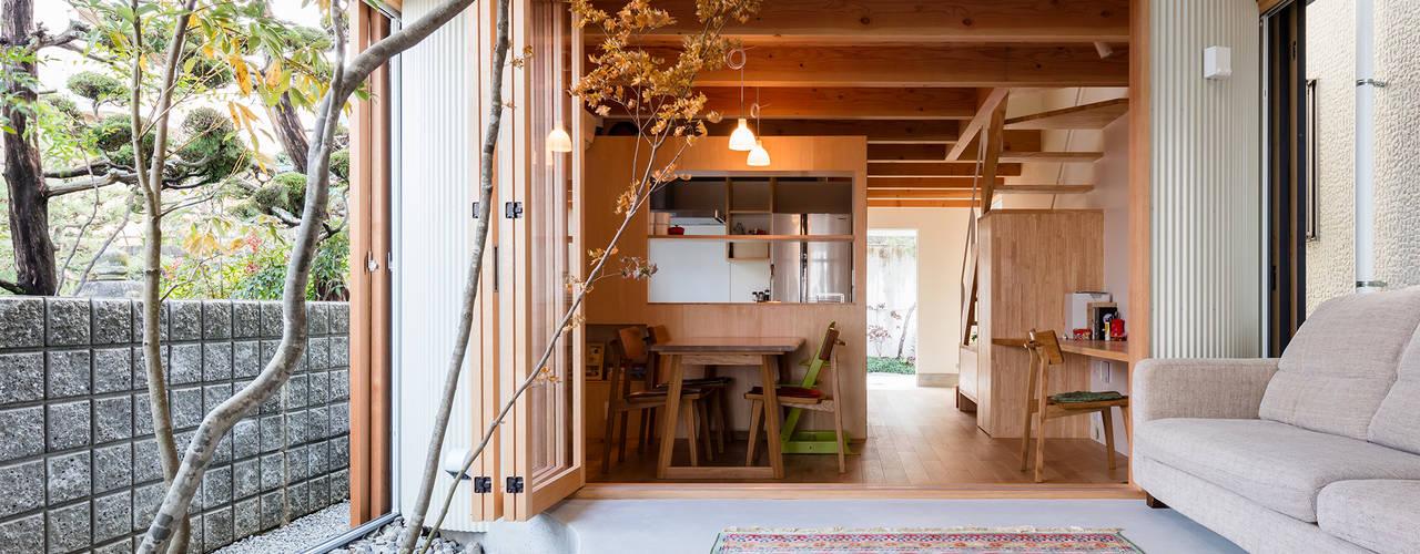 melt 建築設計事務所SAI工房 モダンスタイルの 温室 木 木目調