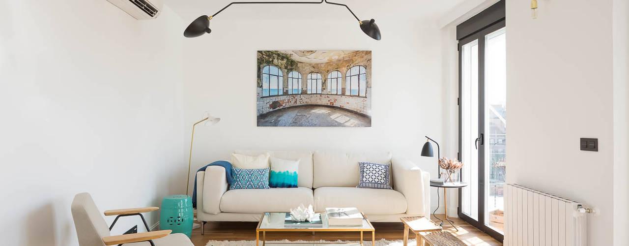 غرفة المعيشة تنفيذ CABALLERO Fotografía de Arquitectura, Inmobiliaria e Interiorismo