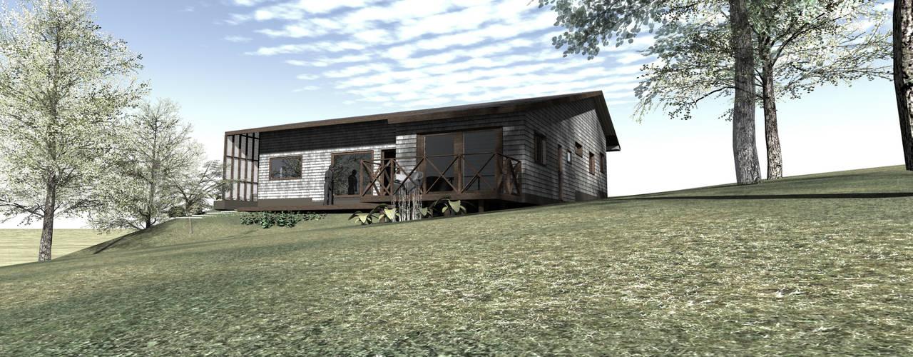 Diseño de Casa Loteo Los Morros, camino a Lago Atravesado de casa rural - Arquitectos en Coyhaique Rural