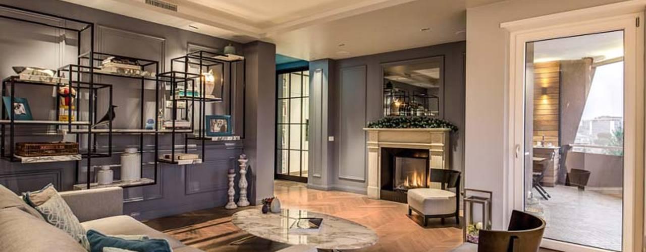 MOB ARCHITECTS Salas de estar modernas