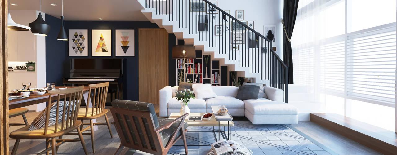 Thiết kế Nội thất:  Cầu thang by AT Design