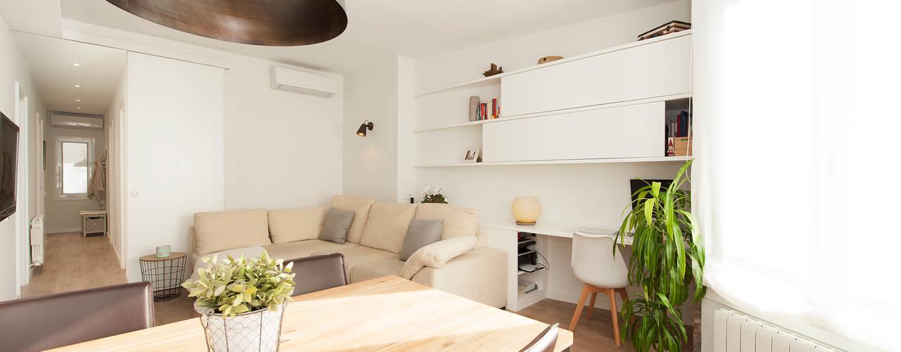 Reforma piso Sarrià Sincro Comedores de estilo escandinavo
