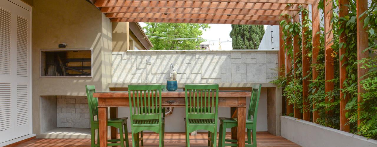 Jardins ecléticos por Bloco Z Arquitetura Eclético