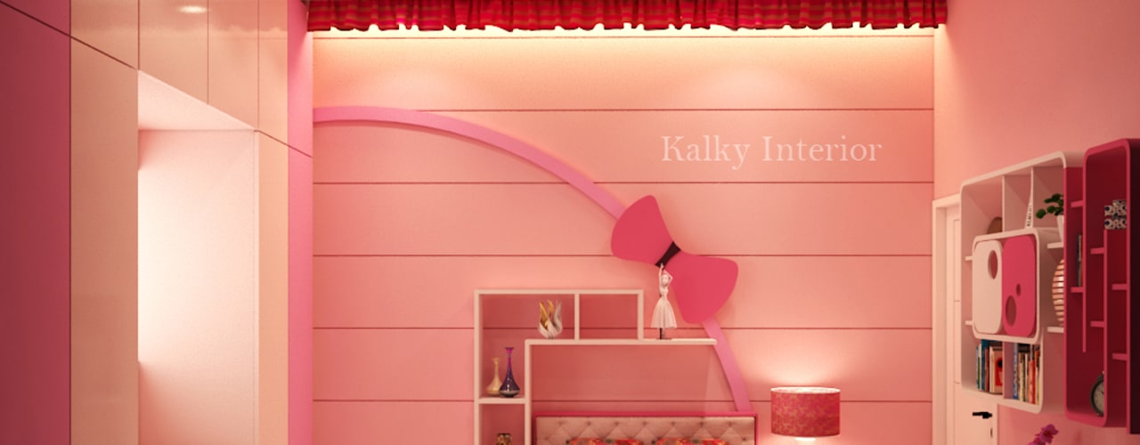 Daughters Room: modern Bedroom by kalky interior