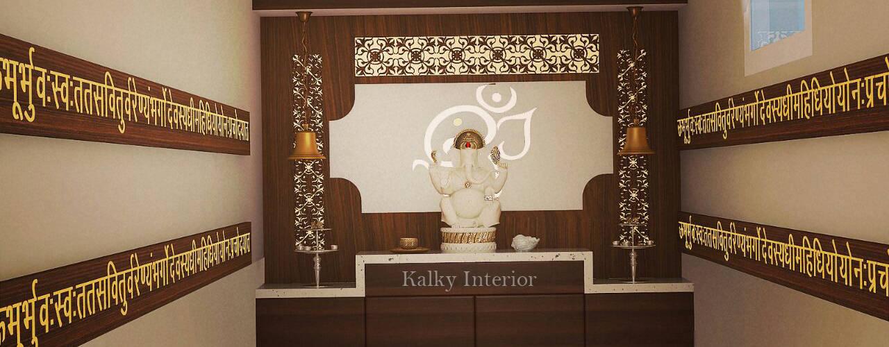 Pooja Room:   by kalky interior