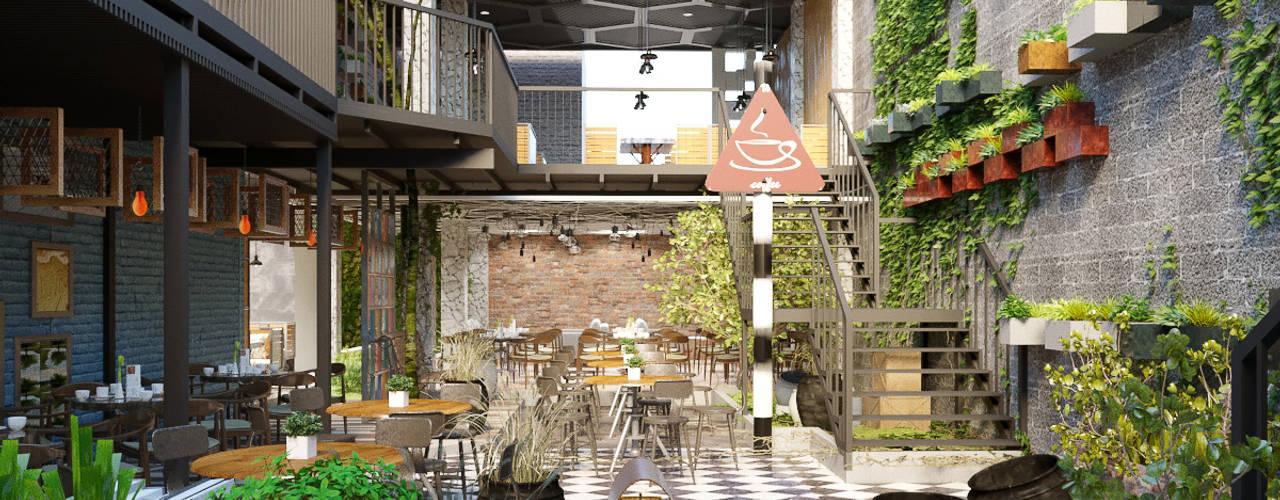 Fm Garden Coffee bởi Công Ty Cp Thiết Kế Kiến Trúc Và Xây Dựng A9 Design Hiện đại