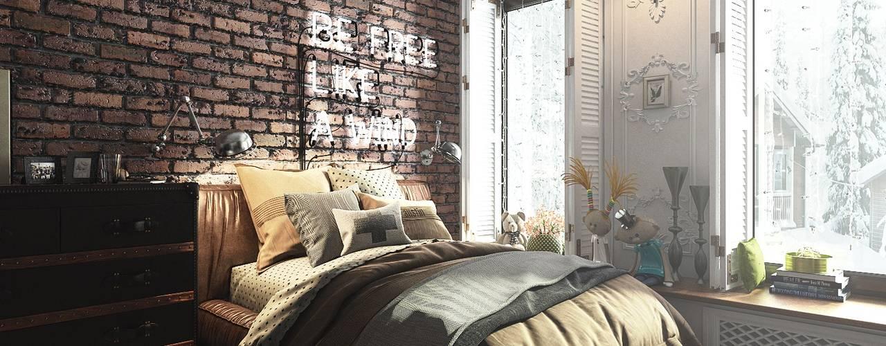 Bedroom by Diveev_studio#ZI, Industrial