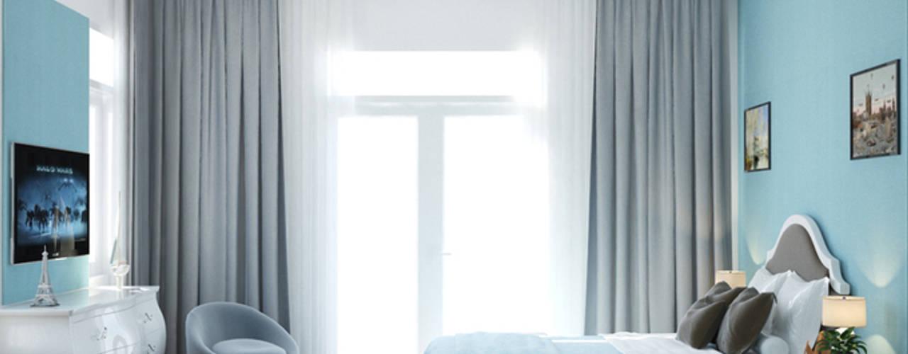 Vợ Chồng Trẻ Xây Nhà Phố 3,5 Tầng Có Sân Vườn Với 1,3 Tỷ Ở Quận 2:  Phòng ngủ by Công ty TNHH Xây Dựng TM – DV Song Phát