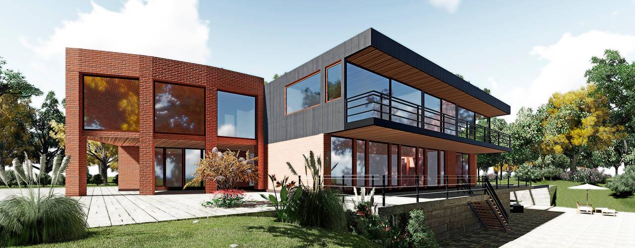Propuesta: Casas de estilo  por NEF Arq.