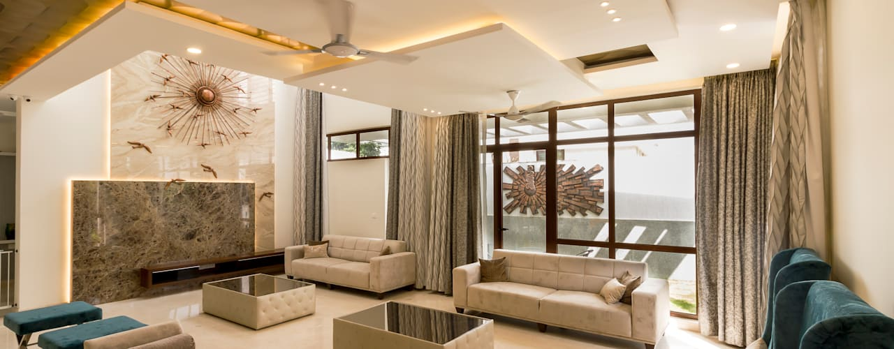 Living area: modern Living room by NVT Quality Build solution
