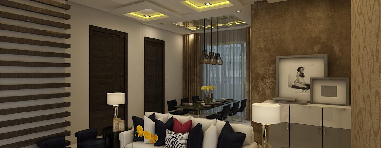 Living:  Living room by Regalias India Interiors & Infrastructure